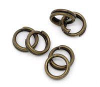 Anneaux Doubles Ouverts Couleur bronze 4 mm X 100