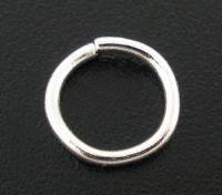 Anneaux Ouverts Argenté 6 mm  ( épaisseur du fil : 0.9 mm ) X 100