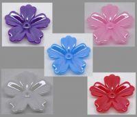 MIxte Perles intercalaires Fleur Acrylique 30x29mm X 10