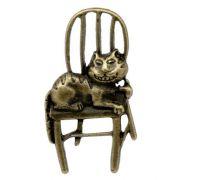 Breloques Chat sur chaise  41x22mm X 2