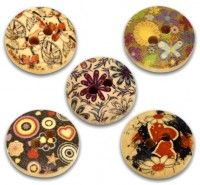 Mixte boutons Bois , couture  15mm  X 50