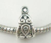 Perles bélière Motif pour Bracelet charm 14x8mm X 2