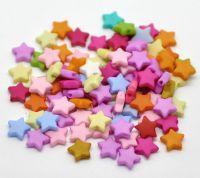 Mixte Perles  étoile  Acrylique  9mm X 100