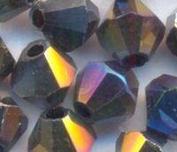 Toupies en cristal 4 mm MORION  AB X 100