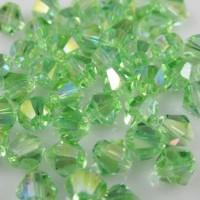 Toupies en cristal 4 mm Peridot AB X 100