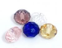 Mixte Perles Rondelle Cristal   6mm X 100