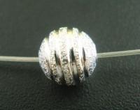 Perles  Dépolies Argentées  8mm  X 10