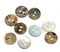 Boutons nacre ronds