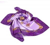 Foulard motif collier mousseline de soie  88x88cm  X 1
