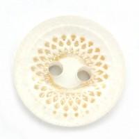 Boutons blanc rond 2 trous en acrylique décoratifs  Scrapbooking 13mm  X 20