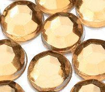 Demi perles Strass Acrylique Facette Champagne Ronde 2mm  X 1000
