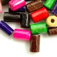 Mixte Perles en bois Tube  taille du trou = 1.6 mm 8x5mm  x 450