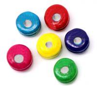 Mixte Perles intercalaire en Bois Rondelle 6x5mm  taille du trou = 1.6 mm X 1000