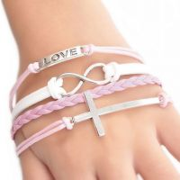 Mode main Infinity Charms Bracelets 