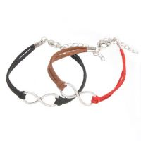 Mixte tissé main Infinity Bracelet black Red Coffee