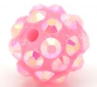 Perles Intercalaires Acrylique Rondes Rose 12mm....Taille du trou 1.6 mm  X 10
