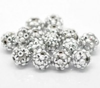 Perles  Acrylqiue Rondes  12mm....Taille du trou 1.2 mm  X 10