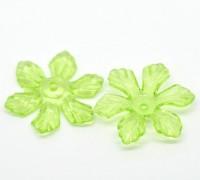 Intercalaires Fleur Acrylique Vert  27x24mm X 10