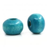 Perles  en Bois  Bleu clair 4x3mm taille du trou = 1.4 mm X 1000