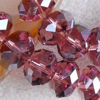 Perles  Cristal  bordeaux 