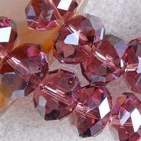 Perles  Cristal  bordeaux  6x8mm X 70