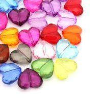 Mixte acrylique Coeur Accessoire  25x29mm X 10