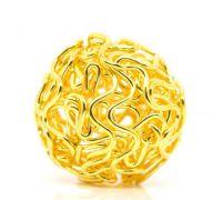 Perles Ajourées Boule Couleur doré  18mm X 5