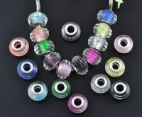 Mixte Perles Verre 14x10mm x 10