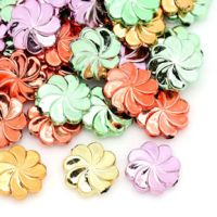 Mixte perles Acrylique lisse forme fleur  12x4mm. X 20