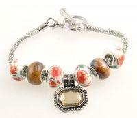Bracelet perles lampwok 20 cm