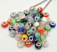 Perles Lampwork , perles de Murano  Luminous  14x9mm trou : 4.5mm X 10
