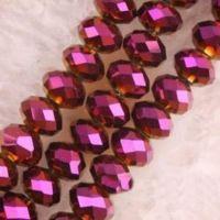 Perles  Cristal siam violet fonce  6x8mm X 70