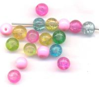Perles rondes 6 mm X 18