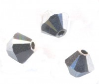 Toupies en crystal 4 mm Argent X 100