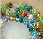 Perles 3x4mm,  Multicolor Cristal Gemme X 150