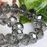 Perles Cristal gris  6x8mm, X 70