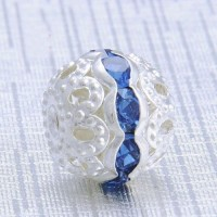 Boules rondes strass blue 