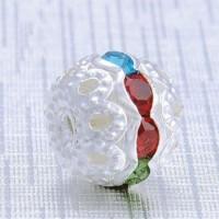 Boules rondes strass mixte couleur  6 mm X 10