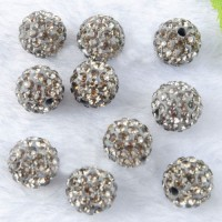 Boules rondes strass argent disco  10 mm X 10