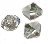 Toupies en crystal 4 mm Crystal comet argent light X 100