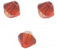 TOUPIES SWAROVSKI® ELEMENTS 4mm AB  CRYSTAL RED MAGMA X 50 perles