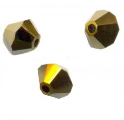 TOUPIES SWAROVSKI® ELEMENTS 4 mm  CRYSTAL DORADO 2X/ 50 perles