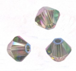 TOUPIES SWAROVSKI® ELEMENTS 4 mm  CRYSTAL PARADISE SHINE AB2X/ 50 perles