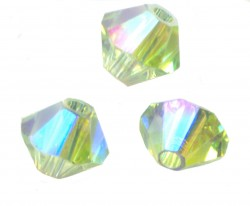 TOUPIES SWAROVSKI® ELEMENTS 4 mm  CHRYSOLITE AB2X/ 50 perles