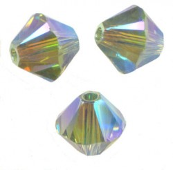 TOUPIES SWAROVSKI® ELEMENTS 4 mm  ERINITE AB2X / 50 perles