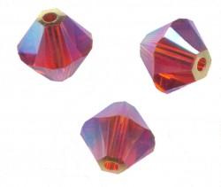 TOUPIES SWAROVSKI® ELEMENTS 4 mm  INDIAN RED AB2X/ 50 perles