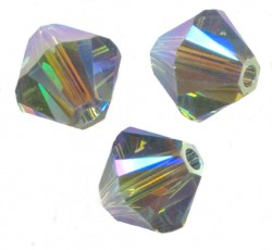 TOUPIES SWAROVSKI® ELEMENTS 4 mm AB2X  INDIAN SAPPHIRE AB2X / 50
