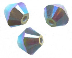 TOUPIES SWAROVSKI® ELEMENTS 4 mm PALACE GREEN OPAL AB2X/ 50 perles
