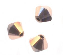 TOUPIES SWAROVSKI® ELEMENTS 4 mm ROSE GOLD 2X / 50 perles