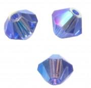 Toupies Swarovski 4 mm SAPPHIRE AB2X / 50 perles